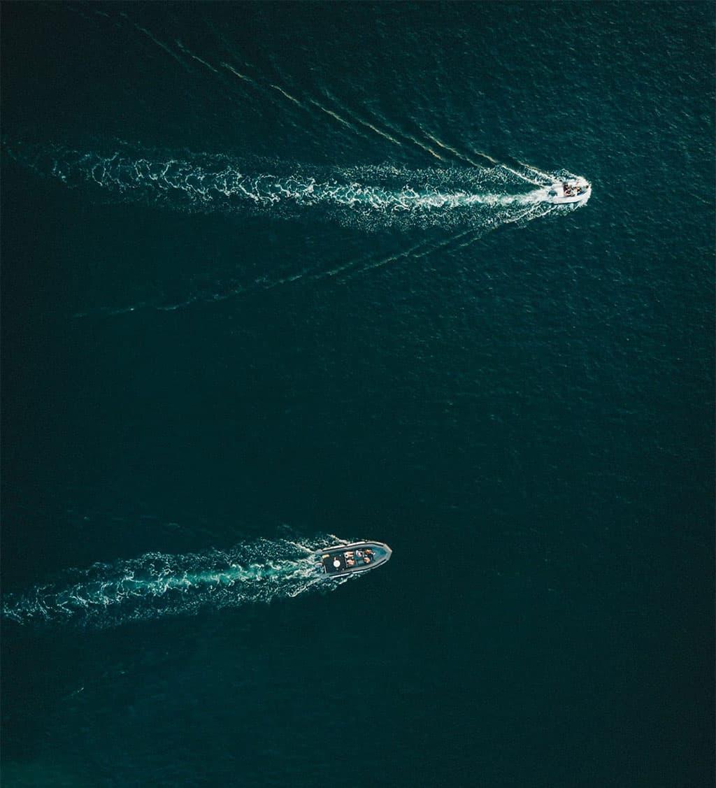 Boats at the sea